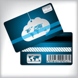Loyalty card with cloud and striped background. Loyalty card design with cloud and striped background Royalty Free Stock Photos