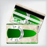 Loyalty card design with green ribbon Royalty Free Stock Photos