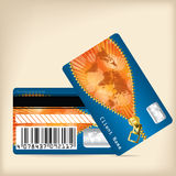 Loyalty card design with opening zipper Stock Images