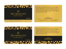 Loyalty card design template. Beautiful gift cards business card vector illustration