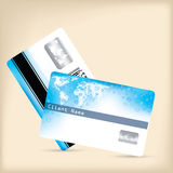 Loyalty card design with water drops and map Royalty Free Stock Images