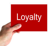 Loyalty Card In Hand. Isolated on a white background. Contains clipping path royalty free stock images