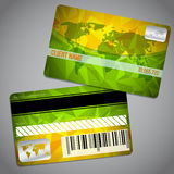 Loyalty card with map and green orange background Royalty Free Stock Photography