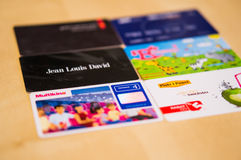 Loyalty cards Stock Photography