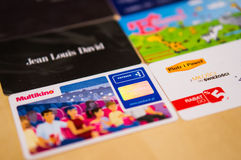 Loyalty cards Stock Image