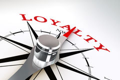 Loyalty concept compass rose Royalty Free Stock Photo