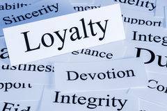Loyalty Concept. A conceptual look at loyalty, sincerity, integrity, fidelity, duty stock photo