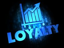 Loyalty Concept on Dark Digital Background. Royalty Free Stock Photos