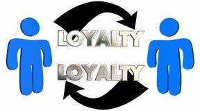 Loyalty Customer Employee Relationship People Arrows. 3d Illustration vector illustration