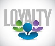 Loyalty team sign illustration design graphic Stock Photo