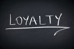 Loyalty Word on Blackboard Royalty Free Stock Photography