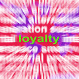 Loyalty Word Cloud Shows Customer Trust Stock Photography