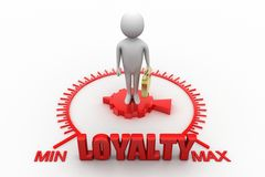 Loyalty Word with 3d man Stock Photo