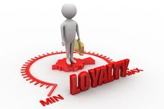 Loyalty Word with 3d man Royalty Free Stock Photo