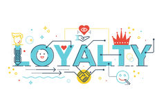 Loyalty word lettering Royalty Free Stock Images