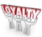 Loyalty Word People Team Lifting Together Dedicated Devotion royalty free illustration
