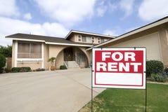loyer à la maison Images stock