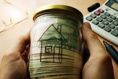 Loyer d'immobiliers et concept d'achat Photos stock