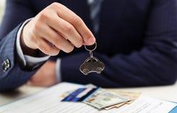 Loyer et vente de voiture Image libre de droits