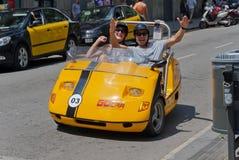 Loyer vert de véhicule électrique Photo libre de droits