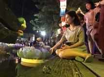 Loykathong feliz Imagem de Stock