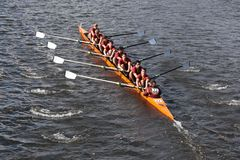 Loyola Academy races in the Head of Charles Regatt Royalty Free Stock Images