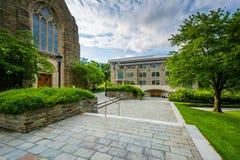 Loyola Alumni Memorial Chapel in Loyola University Maryland, in Baltimore, Maryland stock fotografie