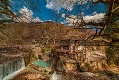 Loytra Pozar Hot Springs, one of the most popular tourist destination in Greece royalty free stock photos