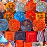 Loza de barro en el mercado Foto de archivo