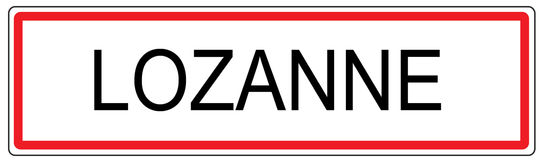 Lozanne city traffic sign illustration in France Royalty Free Stock Images