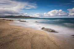 Lozari beach near Ile Rousse in Corsica Royalty Free Stock Photo