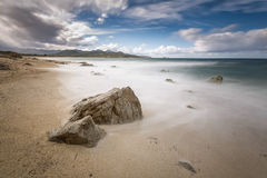 Lozari beach near Ile Rousse in Corsica Stock Photography