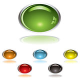 Lozenge gel button Royalty Free Stock Image