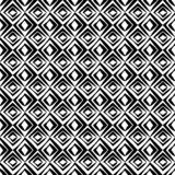 Seamless geometric black and white vector pattern with rhombs vector illustration
