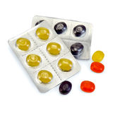 Lozenges cough multicolored Royalty Free Stock Photo