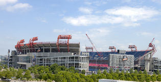 LP Field är en fotbollsarena i Nashville, Tenne Royaltyfria Bilder