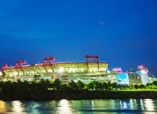 LP Field in Nashville, TN in the evening Stock Photos