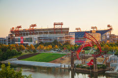 LP Field in Nashville, TN in the morning Stock Photo