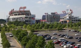 LP Field Stadium Home Of The Tennessee Titans. LP Field, which seats approximately 69,143 fans, is a state-of-the-art, open-air, natural grass facility, which royalty free stock photos