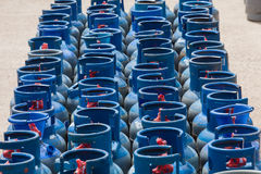 LP Gas Bottles Blue Stock Images