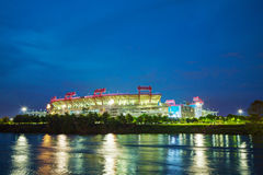 LP-Gebied in Nashville, TN in de avond Stock Foto