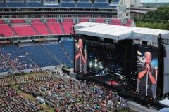 LP-het stadion van de Gebiedsvoetbal in Nashville Stock Fotografie