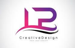 LP L lettre Logo Design de P Vecteur moderne L de lettres d'icône créative illustration libre de droits