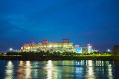 LP pole w Nashville, TN w wieczór Zdjęcie Stock