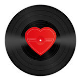 LP Record Vinyl Heart Love Song Royalty Free Stock Photo