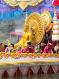 LP Toh BangPlee. SAMUTPRAKRAN - OCTOBER 17: Luang Phor Toh buddha image in the boat parade of the Lotus Receiving Festival (Rub Bua Festival) - tradition of Stock Photos