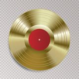 LP-Vinylrotes Gold vektor abbildung