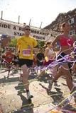 Löparetakedel i minneracen Fotografering för Bildbyråer