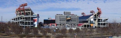LPfältet är en fotbollsarena i Nashville Arkivfoton