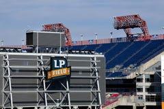 LPfältet är en fotbollsarena i Nashville Royaltyfri Foto
